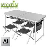 Туристический набор из складного стола и 4-х стульев NORFIN RUNN - миниатюра