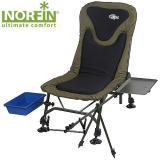 Кресло карповое складное Norfin BOSTON с обвесами - миниатюра