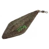 Грузило карповое с вертлюгом трилобит 130 г (зелёное) - миниатюра