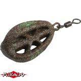Грузило карповое трёхрёберное, центрическое 100 г (зелёное) - миниатюра