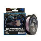 Плетёнка YGK X-Braid Upgrade X4 150m/#1,2/20lb (розовый, светло-серый) - миниатюра