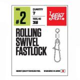 Вертлюги c застежками LJ Pro Series ROLLING SWIVEL FASTLOCK  - миниатюра