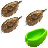Набор методных фидерный кормушек MIKADO Aperio 3 шт. (20+30+40 g) + форма - миниатюра