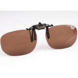 Поляризационная накладка на очки MIKADO (цвет линз коричневый) - миниатюра