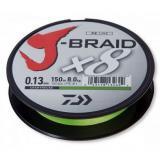 Леска плетёная DAIWA J-Braid X8 150/0.18 шартрез - миниатюра