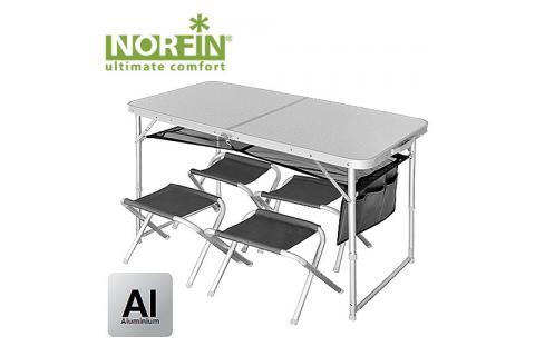 Туристический набор из складного стола и 4-х стульев NORFIN RUNN