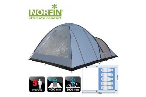 Палатка кемпинговая 5-ти местная NORFIN ALTA 5