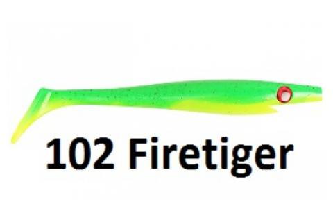 Виброхвосты съедобные искусственные Strike Pro XXL PIG SHAD Jr 15/102Firetigerr 4 шт.