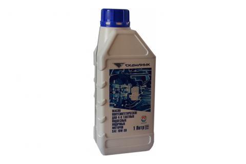 Масло полусинтетическое для 4-х тактных подвесных лодочных моторов SAE 10W-30