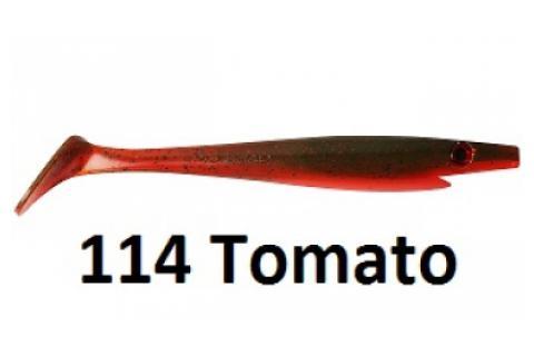 Виброхвосты съедобные искусственные Strike Pro XXL PIG SHAD Jr 15/114Tomato 4 шт.
