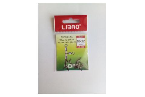 Вертлюги тройные LIBAO LB-009 уп.5 шт.