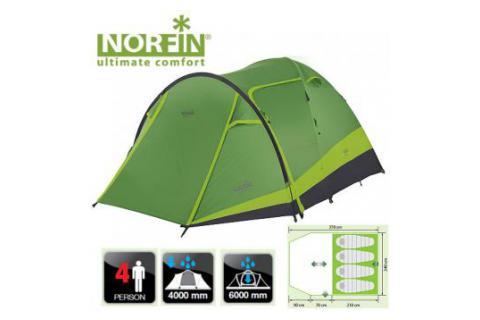 Палатка кемпинговая  NORFIN RUDD 3+1