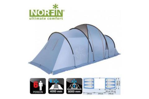 Палатка кемпинговая 6-ти местная NORFIN MOSS 6