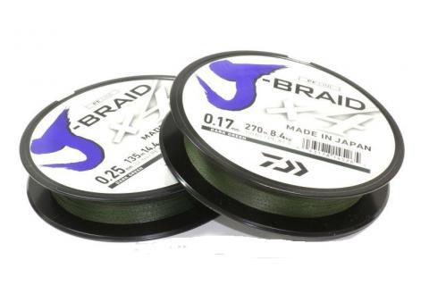 Леска плетёная DAIWA J-Braid X4 135/0.07 зелёный