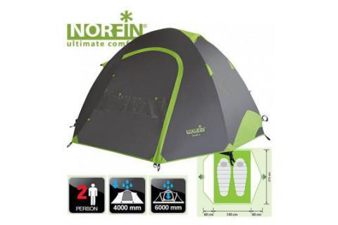 Палатка туристическая треккинговая 2-х местная NORFIN SMELT 2 ALU