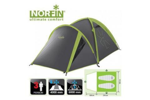 Палатка треккинговая 3-х местная NORFIN CARP 2+1 ALU