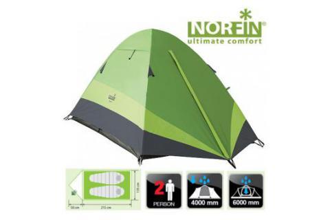 Палатка треккинговая 2-х местная NORFIN ROACH 2