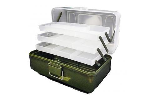 Ящик рыболовный пластиковый ТРИ КИТА с микролифтом, 3 полочки