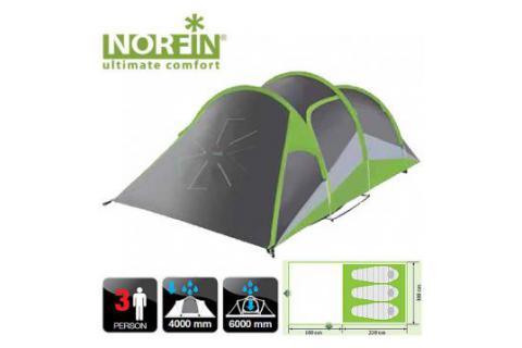Палатка туристическая треккинговая 3-х местная NORFIN SALMON 3 ALU