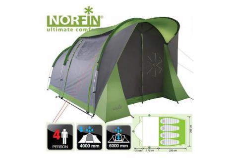 Палатка кемпинговая 4-х местная NORFIN АSР 4 ALU