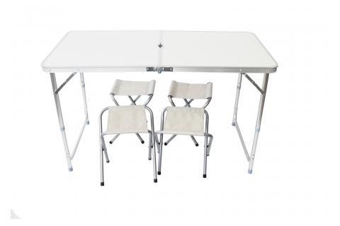 Набор из туристического складного стола и 4-х стульев