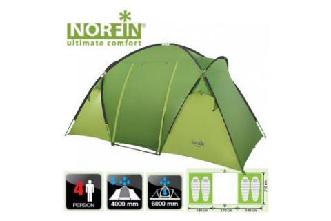 Палатка кемпинговая 4-х местная NORFIN BURBOT 4