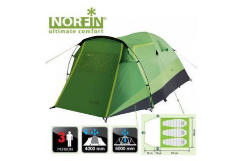 Палатка туристическая треккинговая  NORFIN BREAM 3
