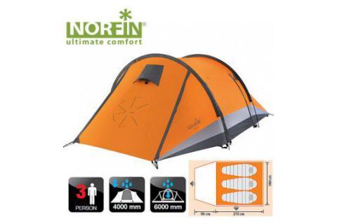 Палатка треккинговая 3-х местная NORFIN GLAN 3
