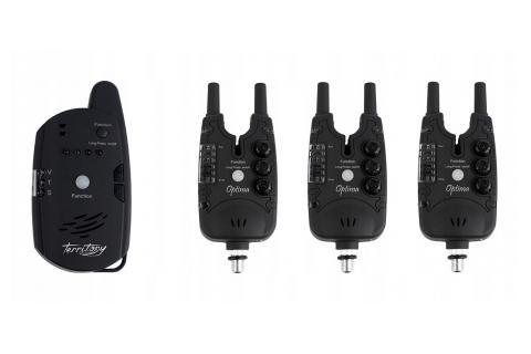 Набор сигнализаторов поклевки CARP TERRITORY OPTIMA (3 сигнализатора + 1 пейджер)