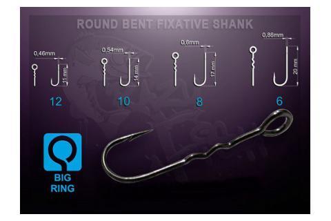 Офсетный крючок Crazy Fish Round Bent Fixative Shank RBFS-12