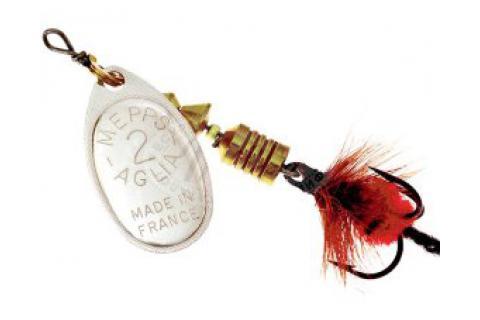 Блесна Mepps Aglia Mouche №1 серебро, красный