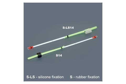 Кивок лавсановый двойной на силиконе NOD S-LS14 (140 мм, тест 0,3-1,2 г, жесткость 25 г) 1 шт.