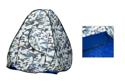 Палатка зимняя автоматическая COMFORTIKA КМФ (2,0 х 1,25 х 2,0 м, дно на молнии)